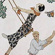 The Swing Art Print by Georges Barbier