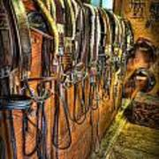 The Tack Room - Equestrian Art Print by Lee Dos Santos