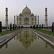 The Taj Mahal In Agra India At Dusk. Art Print