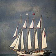 The Tall Ship Windy Art Print