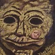 The Tattoed Mask Art Print