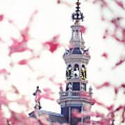 The Temple Bell Dies Away 1. Pink Spring In Amsterdam Art Print