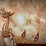 The Temple Dragon Art Print