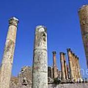 The Temple Of Artemis At Jerash Jordan Art Print