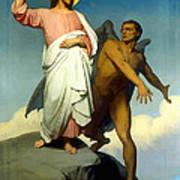 The Temptation Of Christ Art Print