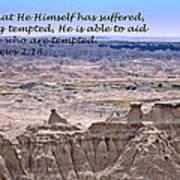 The Temptation Of Jesus Hebrews 2 18 Art Print