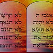 The Ten Commandments - Featured In Comfortable Art Group Art Print