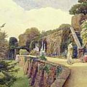 The Terrace At Berkeley Castle Art Print