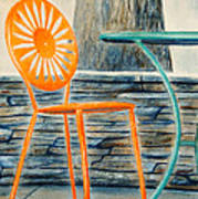 The Terrace Chair Art Print