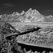 309217-the Teton Range From Snake River Overlook Art Print