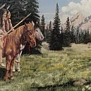The Tetons Early Tribes Art Print