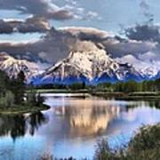 The Tetons From Oxbow Bend Art Print