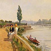 The Thames At Hampton Court Art Print