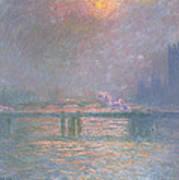 The Thames With Charing Cross Bridge Art Print