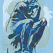 The Thinker - Rodin Stylized Pop Art Poster Art Print by Kim Wang