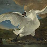 The Threatened Swan, Jan Asselijn Art Print