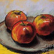 The Three Apples Art Print
