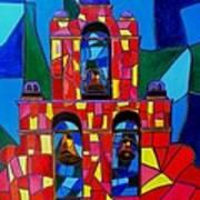 The Three Bells Of San Jose Mission Art Print