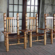 The Three Chairs Art Print