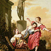 The Three Daughters Of Cecrops Discovering Erichthonius Art Print