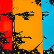 The Three Faces Of Elvis Art Print