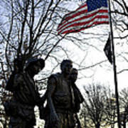 The Three Soldiers - Vietnam War Memorial Art Print
