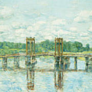The Toll Bridge New Hampshire Art Print