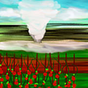 The Tomatoes And The Tornado Art Print