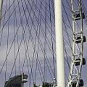 The Top Section Of The Marina Bay Sands As Seen Through The Spokes Of The Singapore Flyer Art Print