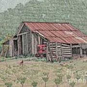 The Tractor Barn Print by Calvert Koerber