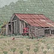 The Tractor Barn Art Print