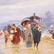 The Train Has Arrived, 1894 Art Print