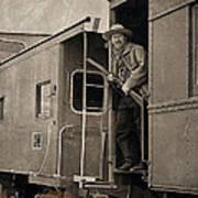 The Train Robber Art Print