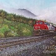 The Train West Art Print