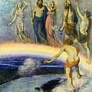 The Trek Of The Gods To Valhalla Art Print