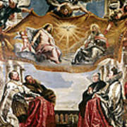 The Trinity Adored By The Duke Of Mantua And His Family Art Print