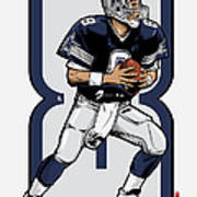 The Triplets Leader Qb 8 Art Print