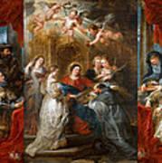 The Triptych Of Saint Ildefonso Altar Art Print