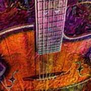 The Tuning Of Color Digital Guitar Art By Steven Langston Art Print