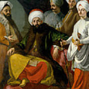 The Turkish Ambassador And His Entourage At The Court Of Naples Art Print