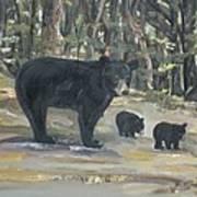 Cubs - Bears - Goldilocks And The Three Bears Art Print