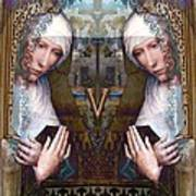 the two Marys at the Alhambra Art Print