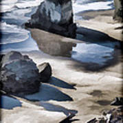 The Unexplored Beach Painted Art Print