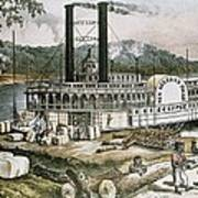 The United States 19th C..steamship Art Print by Everett
