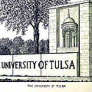 The University Of Tulsa Art Print