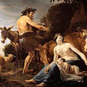 The Upbringing Of Zeus Art Print