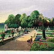 The Upper And Lower Terrace Gardens Art Print