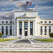 The Us Federal Reserve Board Building Art Print by Susan Candelario