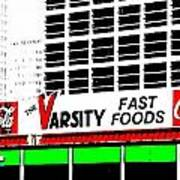 The Varsity Atlanta Pop Art Art Print