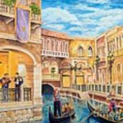 The Venetian Canal  Art Print
